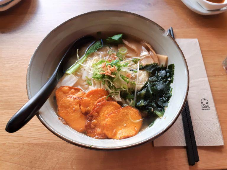 Takumi Ramen Kitchen veggie miso ramen Sapporo