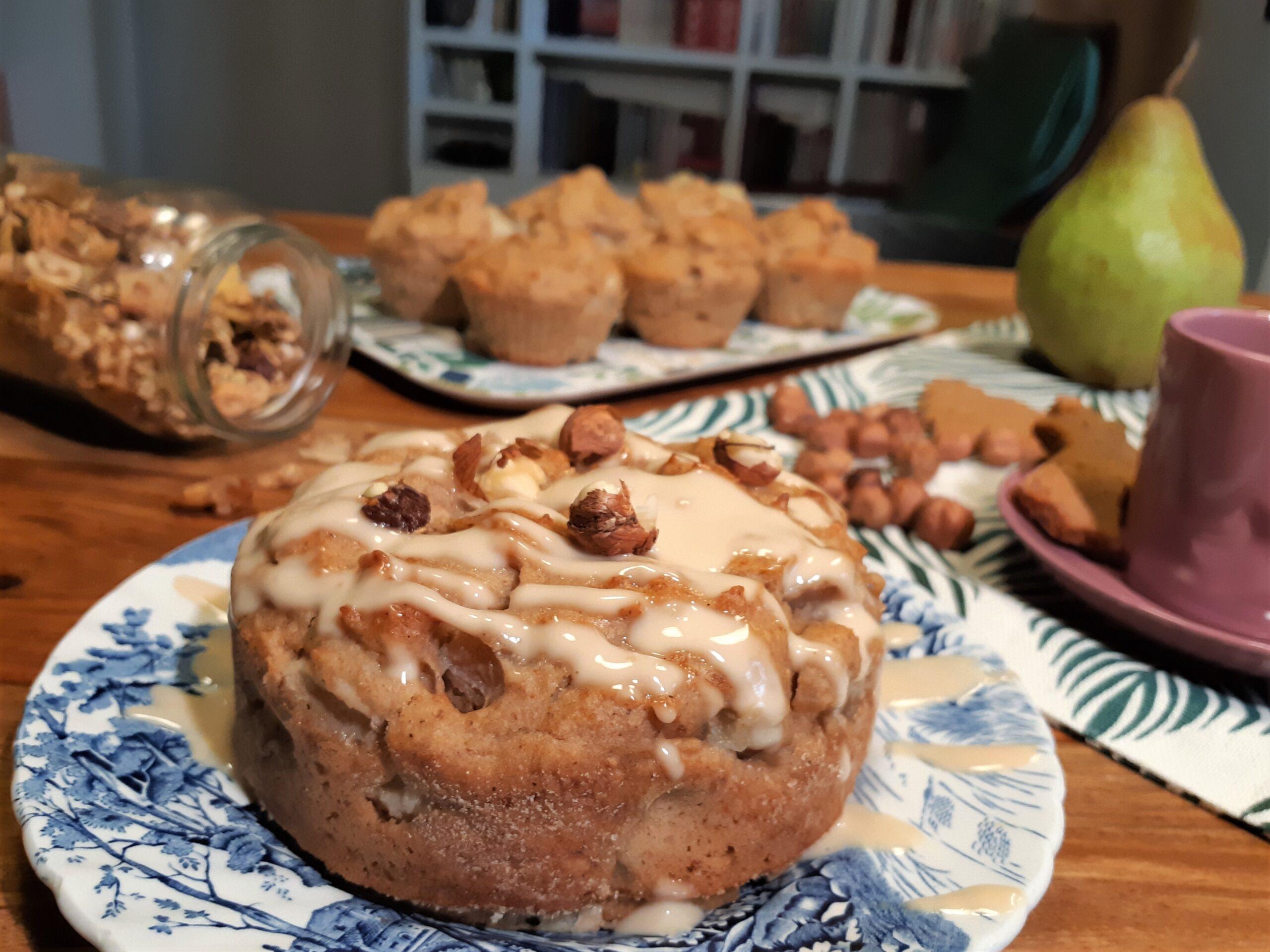 Muffin pere e nocciole 3