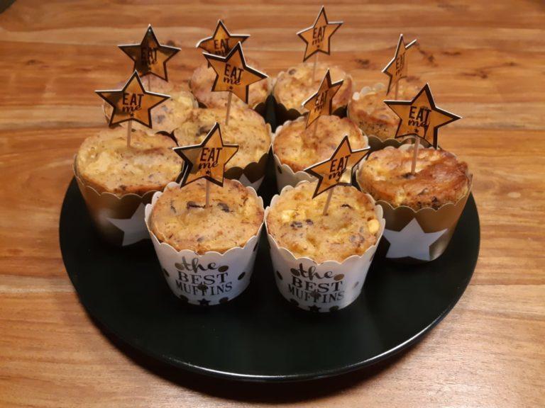 Muffin speziati mela e arancia